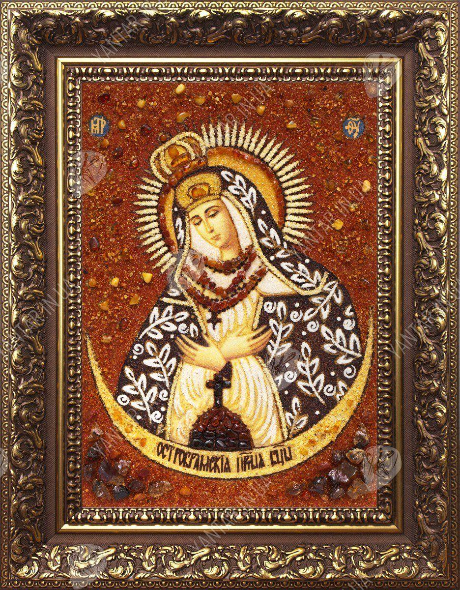 Остробрамська ікона Божої Матері з бурштину 3b71ec9d9ec4b