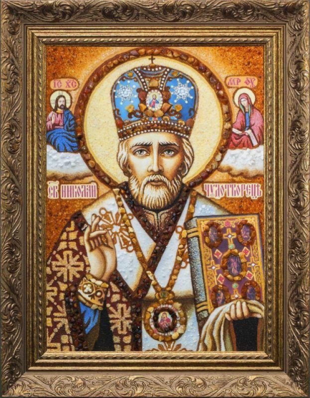 Ікони із бурштину Святого Миколая Чудотворця 8f1f97d5bba79
