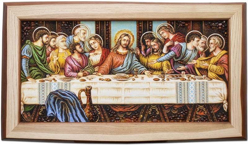 Ікона з бурштину «Тайна вечеря» Леонардо да Вінчі 788832e3ceb9c